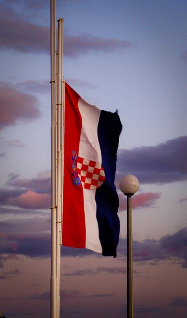 drapeau croate par Emmanuel Tabard
