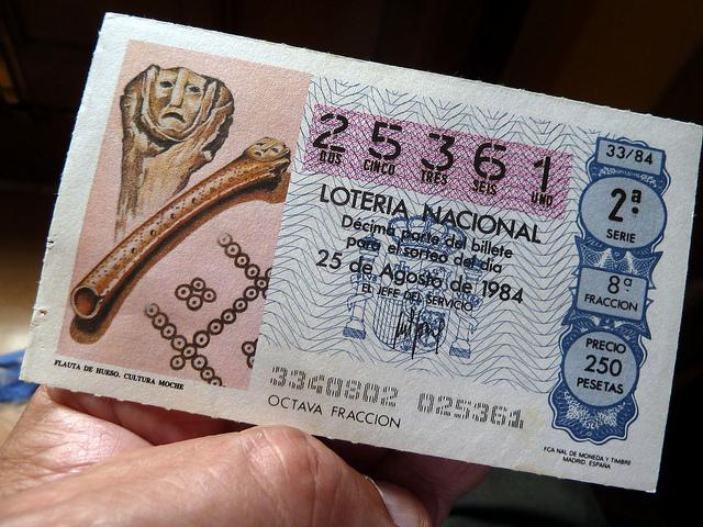 Ticket de la loterie espagnole El Gordo.