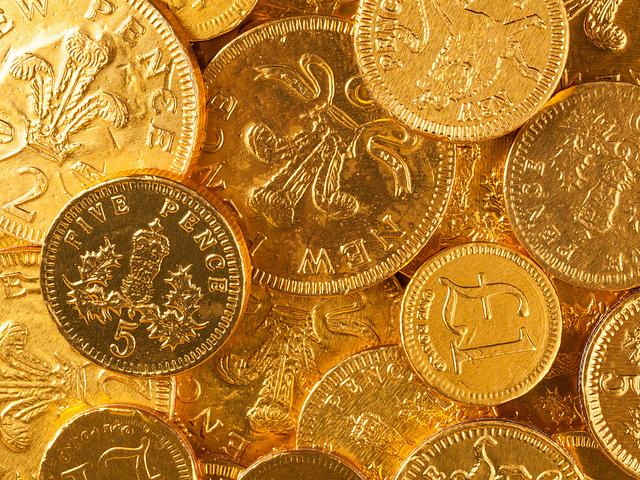 Tas de pièces d'or.