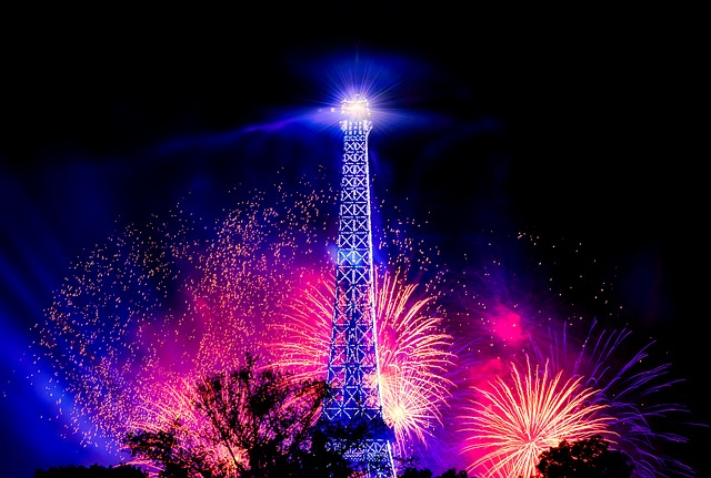 Feux d'artifice sur la Tour Eiffel.