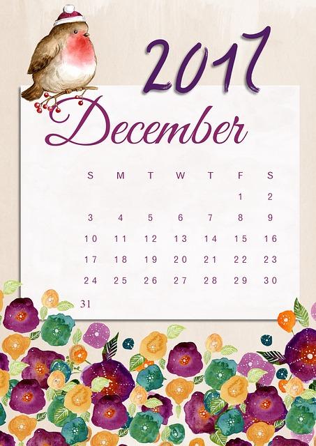 Calendrier décembre