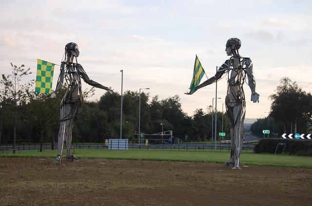 Sculpture à Strabane en Irlande du Nord