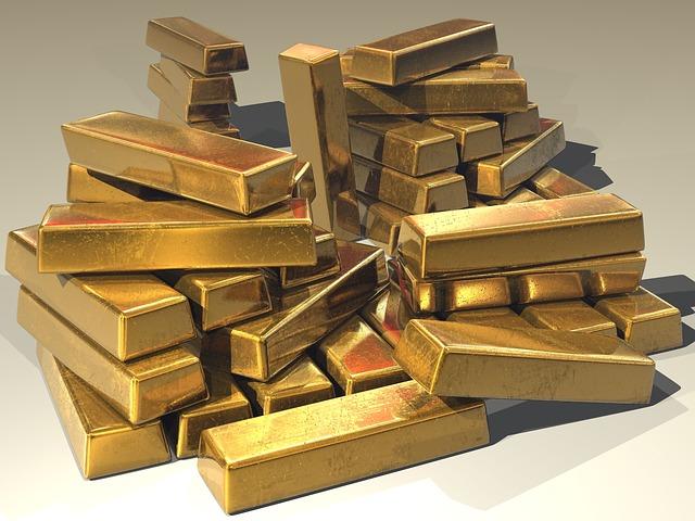Lingots d'or à gagner à la loterie.