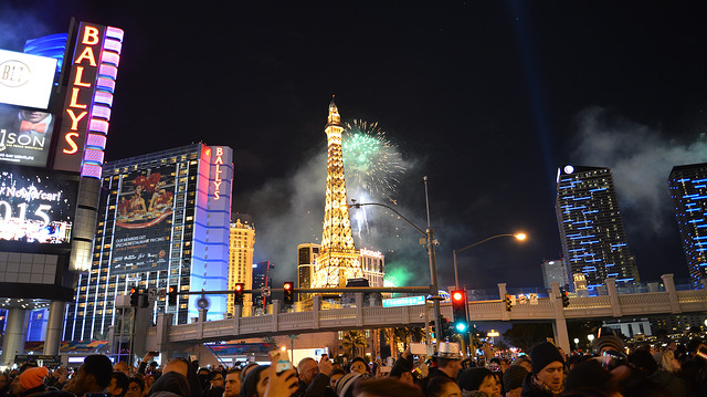 Nouvel an à Las Vegas.