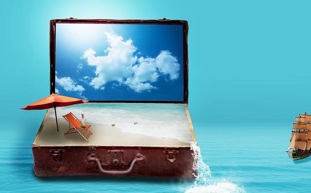 Valise pour les vacances.