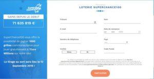La loterie SuperChance100